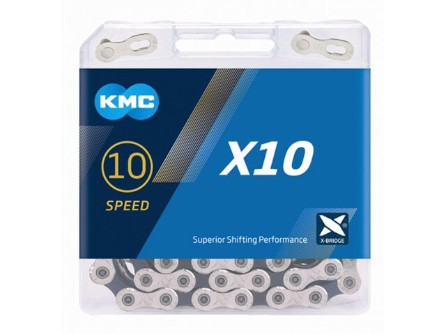 KMC X10 Kettingslot 10-speed, silver/black